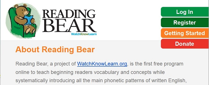 Reading bear about