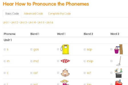 hear how to pronounce the phonemes