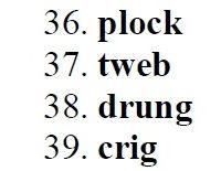 100 Pseudoword Spelling Test