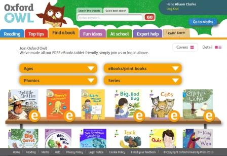 Image result for oxford owl books website